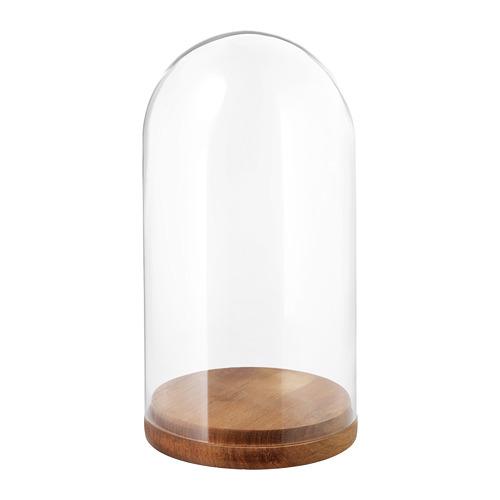 HÄRLIGA campana decorativa vidrio + base