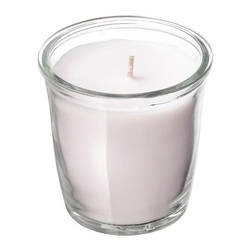 SMÅTREVLIG vela aromática en vaso