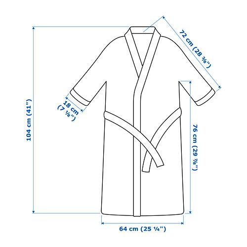 ROCKÅN albornoz, talla: S/M, peso: 380 g/m²