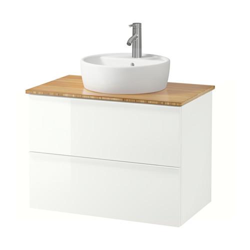 GODMORGON/TOLKEN/TÖRNVIKEN mueble de baño para lavabo con 2 cajones, juego de 3