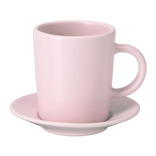 DINERA taza y plato para expreso, taza 9cl y diámetro plato 9cm