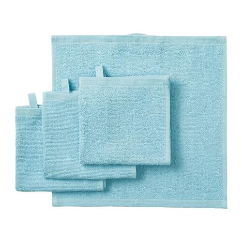 KORNAN toalla de visita, juego de 4, peso: 320 g/m²