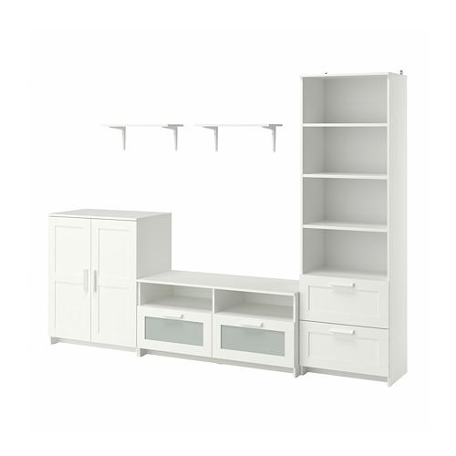 BRIMNES/BURHULT combinación almacenaje y mueble TV, 258x41x190cm