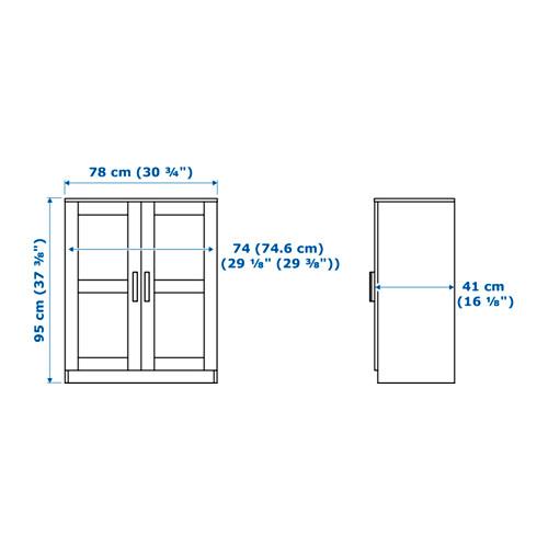 BRIMNES armario con puertas, 78x41x95cm