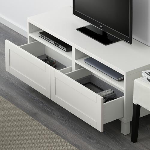 BESTÅ mueble TV con 2 cajones
