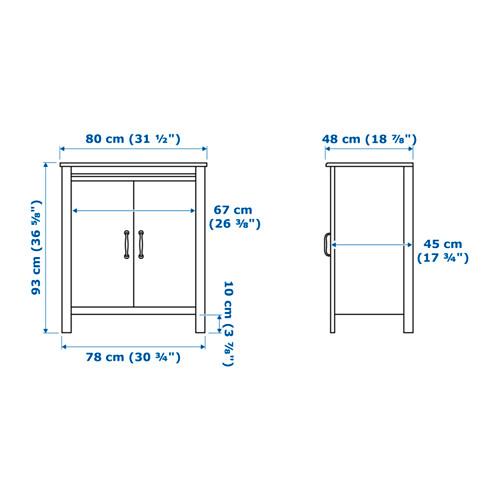 BRUSALI armario con puertas