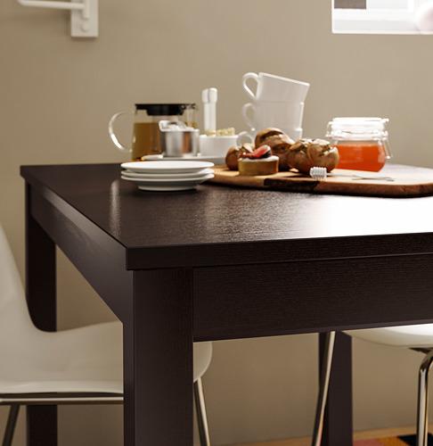 LANEBERG mesa extensible, mínimo extensión 130cm y máximo extensión 190cm