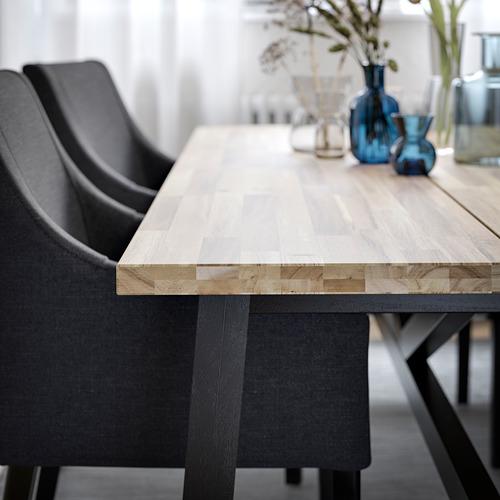 SAKARIAS/SKOGSTA mesa con 4 sillas, longitud de la mesa 235cm