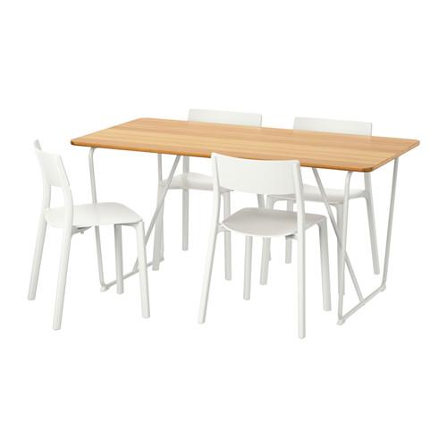 ÖVRARYD/JANINGE mesa con 4 sillas, longitud de la mesa 150cm