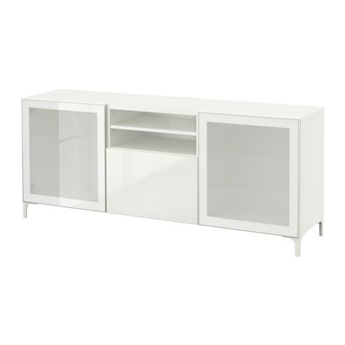 BESTÅ mueble TV con 2 puertas de cristal y 1 gaveta