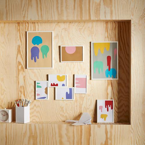 YLLEVAD set de decoración formado por 3 marcos de distintas medidas