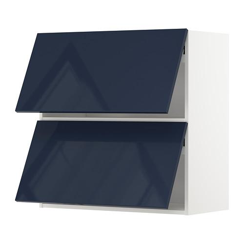 METOD armario pared horiz 2puertas vidrio