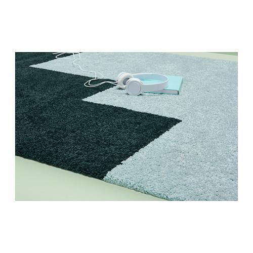 KONGSTRUP alfombra, pelo largo, 133x195cm