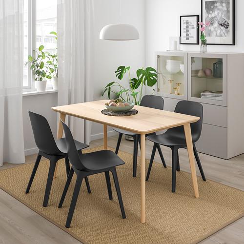 ODGER/LISABO mesa con 4 sillas, longitud de la mesa 140cm
