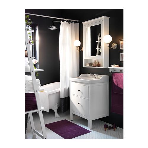 HEMNES/RÄTTVIKEN mueble de baño para lavabo con 2 cajones, juego de 3 piezas
