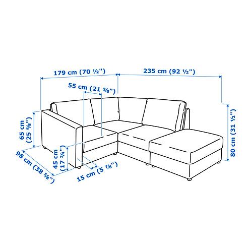 VIMLE sofá 3 plazas esquina