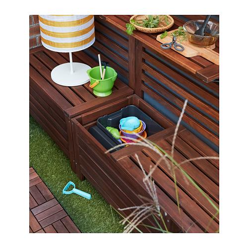 ÄPPLARÖ Banco jardín con almacenaje