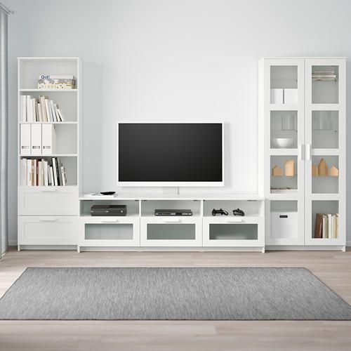BRIMNES mueble TV + puertas vidrio