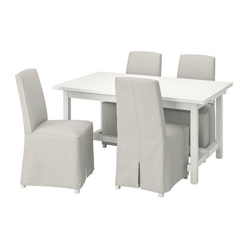 NORDVIKEN/BERGMUND mesa y 4 sillas