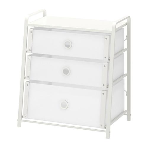LOTE cómoda vertical de 3 cajones, 55x36x62cm