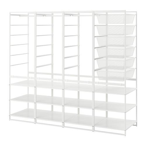 JONAXEL estructura+cestas de rejilla estrecha+barra+balda