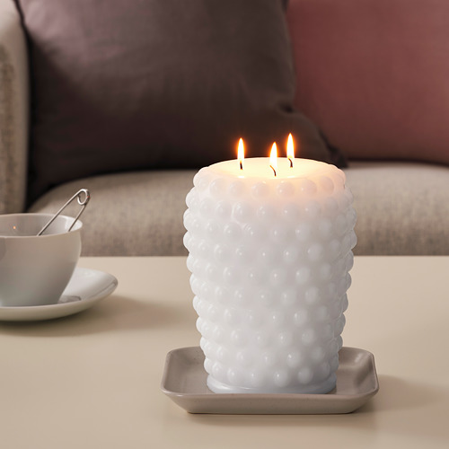 FRAMBRINGA vela gruesa sin perfum 3 mechas
