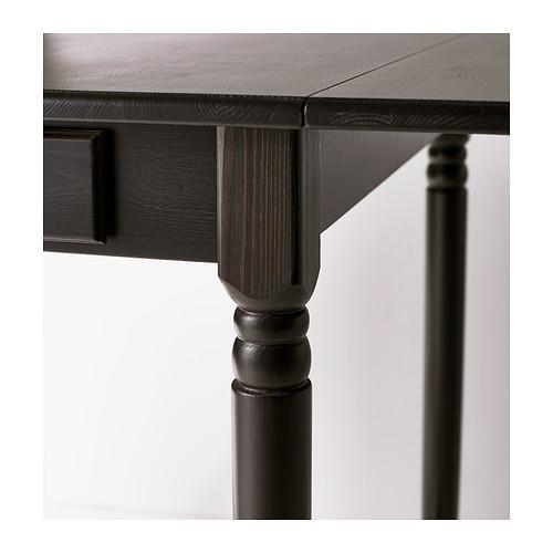 INGATORP mesa de hojas abatibles, mínima extensión 65cm y máxima extensión 123cm