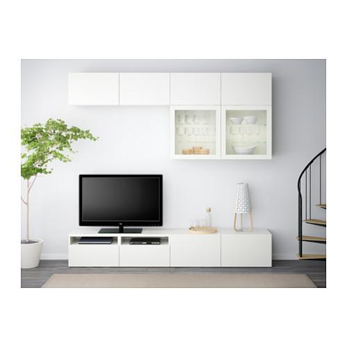 BESTÅ mueble TV +puertas vidrio