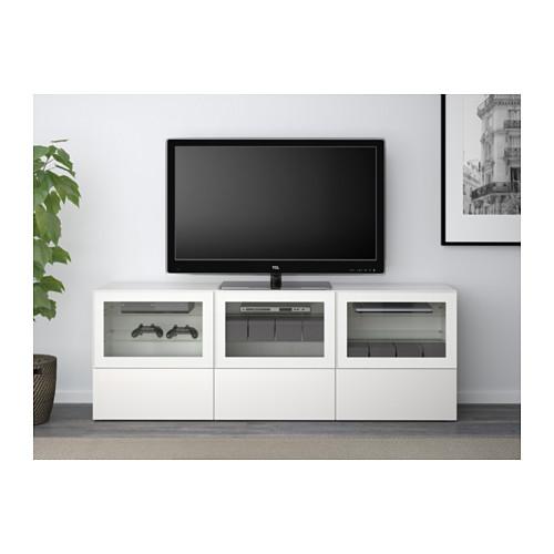 BESTÅ mueble TV con 3 puertas de cristal y 3 cajones