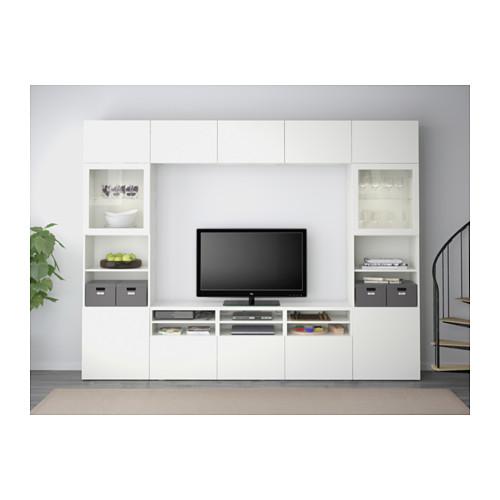 BESTÅ mueble TV puertas vidrio