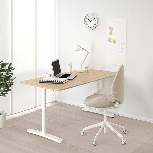 BEKANT escritorio, 160x80cm, patas regulables