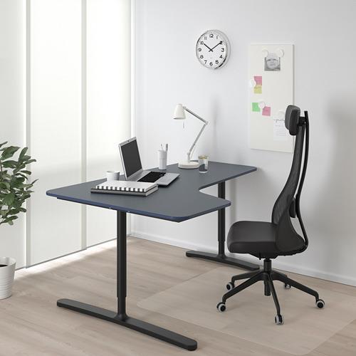 BEKANT  escritorio esquina izquierda, 160x110cm, patas regulables