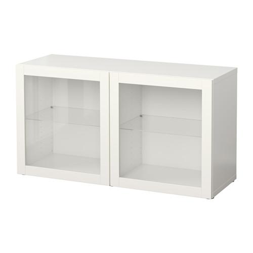 BESTÅ Estantería con 2 puertas de vidrio
