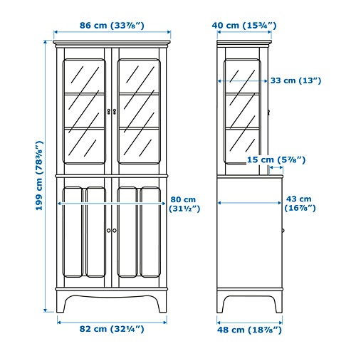LOMMARP armario con puertas vidrio