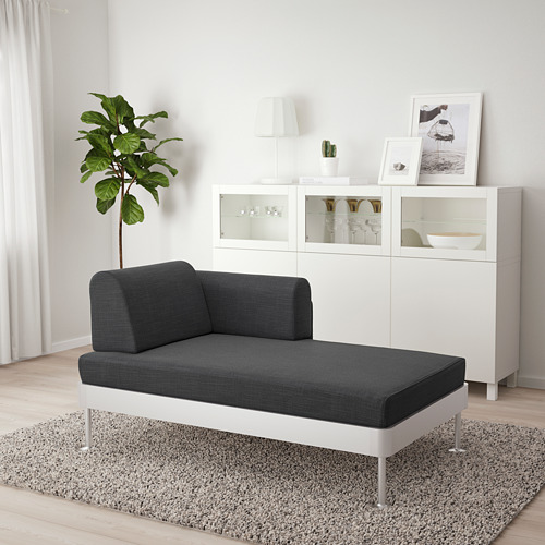 DELAKTIG chaiselongue con reposabrazos