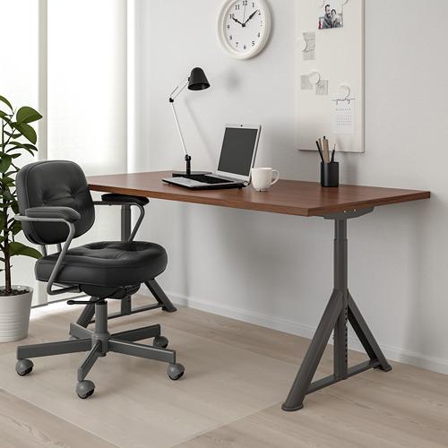 IDÅSEN escritorio, 160x80cm, patas regulables