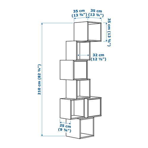 EKET Estantería de cubos montada a la pared