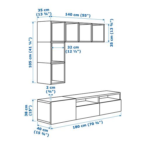 EKET/BESTÅ mueble TV y armario