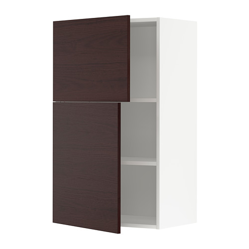 METOD armario pared cocina con estantes y puertas