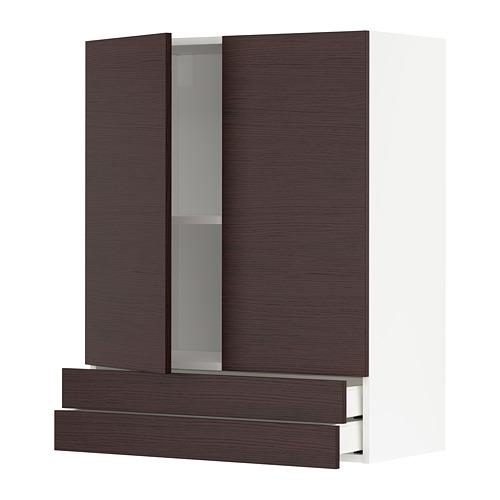 METOD/MAXIMERA armario pared cocina con puertas y cajones