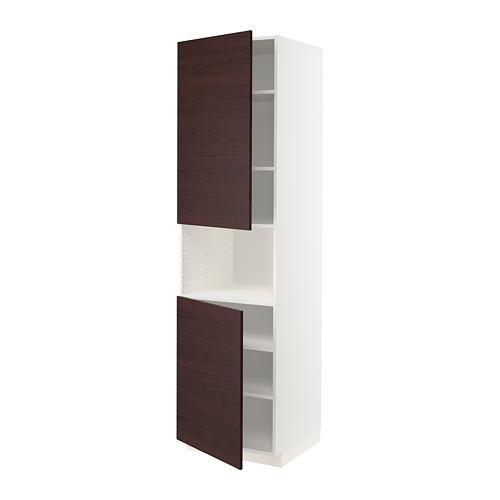 METOD armario alto microondas 2 puertas
