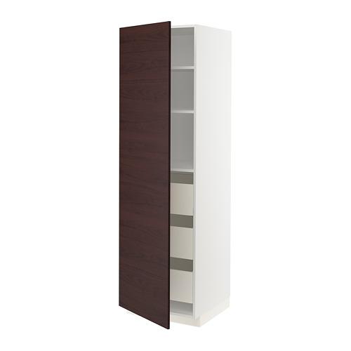 METOD/MAXIMERA armario alto con puerta y cajones
