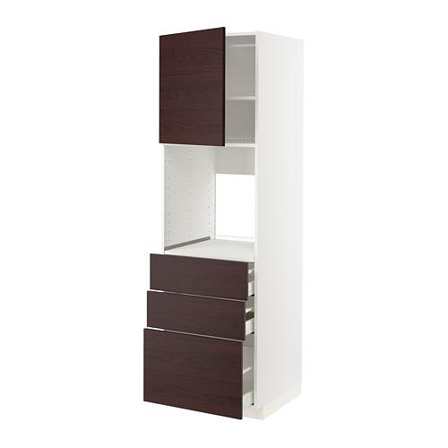 METOD/MAXIMERA armario alto cocina para horno con puerta y cajones