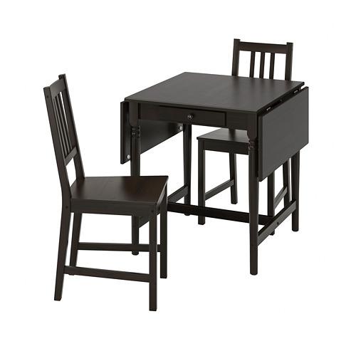 INGATORP/STEFAN mesa abatible con 2 sillas, máximo extensión 123cm