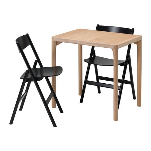 RÅVAROR/RÅVAROR mesa+2 sillas plegables