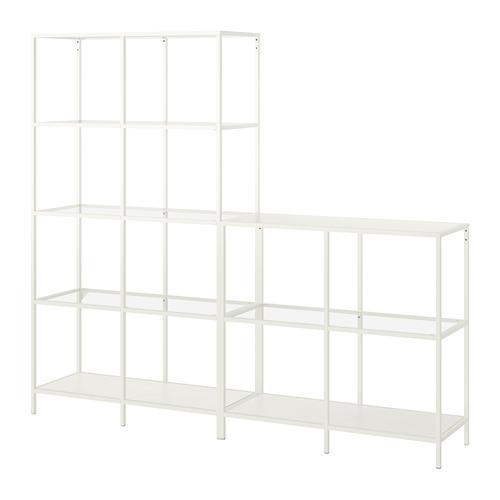 VITTSJÖ Combinación de armario y estantería