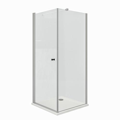 OPPEJEN/FOTINGEN ducha de esquina con bandeja