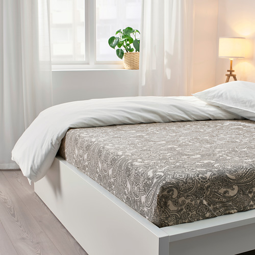 JÄTTEVALLMO sábana bajera ajustable, 180x200cm, 152 hilos