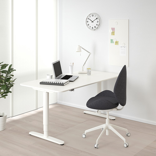 BEKANT escritorio sentado/ pie,160x80cm, patas regulables con motor