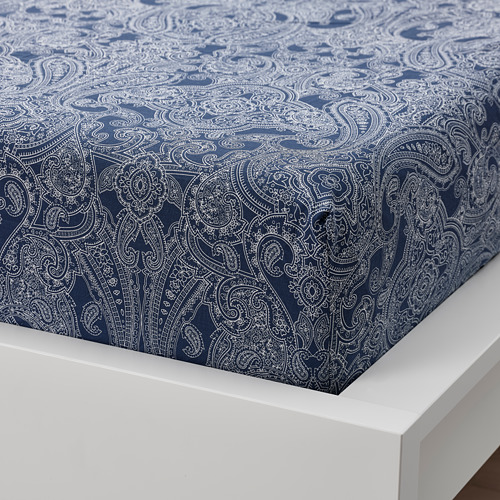 JÄTTEVALLMO sábana bajera ajustable, 90x200cm, 152 hilos